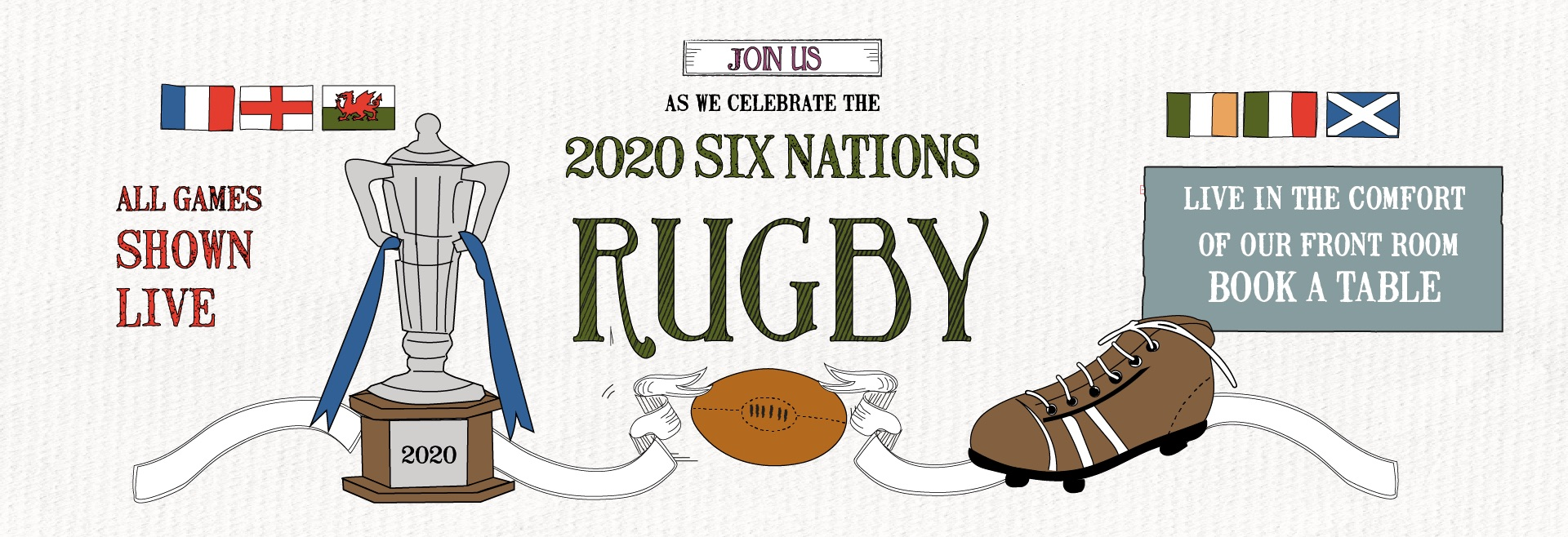 Six Nations at The White Hart